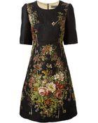 Dolce & Gabbana Floral Brocade Shift Dress - Lyst