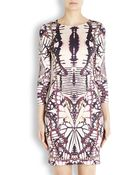 Just Cavalli Butterfly Print Fitted Dress - Lyst