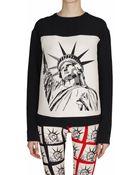 Fausto Puglisi Printed Neoprene Sweatshirt - Lyst