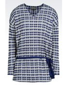 Emporio Armani Sweater In Jacquard With Drawstring Waist - Lyst
