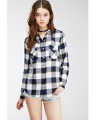 Forever 21 Western-Inspired Plaid Flannel Shirt - Lyst