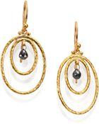 Gurhan Hoopla Black Diamond & 24K Yellow Gold Drop Earrings - Lyst