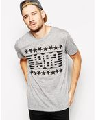 Asos T-Shirt With 1982 Print And Linen Blend Relaxed Fit - Lyst