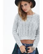 Forever 21 Marled Knit Sweater - Lyst