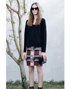Hugo Boss Maluka | Virgin Wool Blend Skirt - Lyst