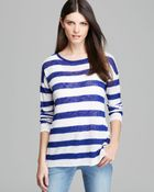 Nydj Stripe Sweater with Ribbed Tank - Lyst
