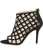 MICHAEL Michael Kors  Yvonne Suede Cage Bootie - Lyst