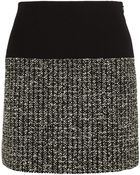Bouchra Jarrar Bouclé-Tweed And Crepe Mini Skirt - Lyst