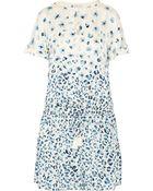Tory Burch Odila Printed Silk Fil Coupé Dress - Lyst