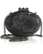 Christian Louboutin Mina Embellished Suede Burma Clutch - Lyst