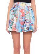 Mary Katrantzou Hillie Skirt With Abalone Sky Print - Lyst