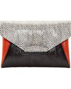 Givenchy Black Snakeskin Antigona Envelope Clutch - Lyst