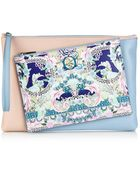 Mary Katrantzou Rose Garden-Print Detachable Leather Clutch - Lyst