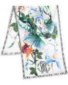 Roberto Cavalli Tropical Birds Silk Scarf - Lyst