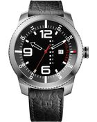 Tommy Hilfiger Men'S Black Leather Strap Watch 50Mm 1791014 - Lyst