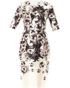Prabal Gurung Floral Print Peplum Dress - Lyst