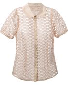 RED Valentino Lace Detail Blouse - Lyst