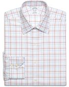 Brooks Brothers Supima Cotton Non Iron Slim Fit Spread Collar Twill Alternate Over Check Luxury Dress Shirt - Lyst