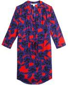 Diane von Furstenberg Freya Stretch Silk Shirt Dress - Lyst