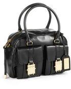 Badgley Mischka Leather Satchel - Lyst