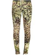 Balmain Printed Low-Rise Skinny Jeans - Lyst
