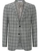 Armani Checked Jacket - Lyst