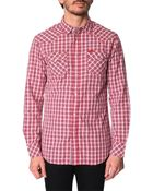 Diesel Sulfura Micro-Check Red Shirt - Lyst