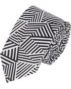 Band of Outsiders Stripe Geometric-Print Neck Tie - Lyst