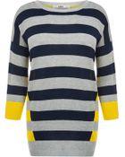 Oasis Double Stripe Jumper - Lyst