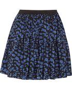 Sea Printed Silk Mini Skirt - Lyst