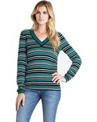 BCBGeneration Striped Pullover - Lyst