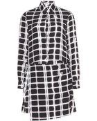 Kenzo Printed Crepe Dress - Lyst