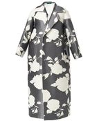Emilia Wickstead Floral-Jacquard Coat - Lyst