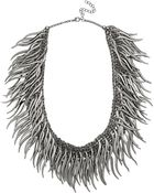 Kenneth Jay Lane Gunmetal-Plated Necklace - Lyst