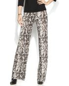 Inc International Concepts Petite Snakeskin-Print Wide-Leg Soft Pants - Lyst