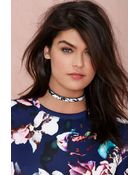 Nasty Gal I Still Love You Nyc Marble Collar Necklace - Lyst