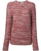 Carven Crew Neck Sweater - Lyst