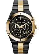 Michael Kors Reagan Two-Tone Watch - Lyst