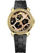 Juicy Couture Women'S Pedigree Black Silicone Strap Watch 38Mm 1901191 - Lyst