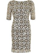 River Island Silver Sequin Bodycon Dress - Lyst