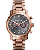 Michael Kors Mens Pennant Rose Gold Tone Chronograph Watch - Lyst
