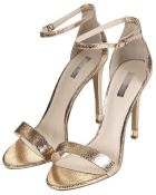 Topshop Ruby Metallic High Sandals - Lyst
