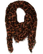 Forever 21 Leopard Print Woven Scarf - Lyst