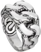 John Hardy Mens Classic Chain Gourmette Silver Ring - Lyst