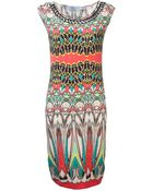 Blumarine Abstract Print Dress - Lyst