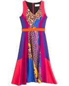 Peter Pilotto Flared Vapor Dress - Lyst