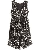 H&M + Chiffon Dress - Lyst
