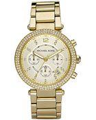 Michael Kors Mk5354 Parker Gold-Tone Watch - Lyst