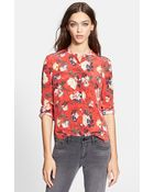 The Kooples Floral Print Silk Shirt - Lyst