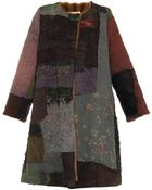 By Walid Vintage Patchwork Fur-Lined Swing Coat - Lyst